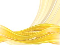 Abstract  background with yellow waves Royalty Free Stock Photo