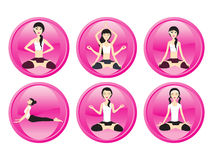 Abstract background with yoga icons Royalty Free Stock Photo