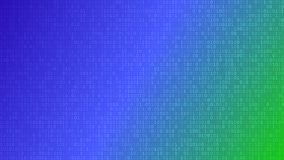 Abstract background of ones and zeros. Abstract background of zeros ad ones in blue and green colors Royalty Free Stock Photography