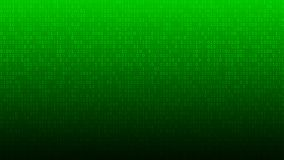 Abstract background of ones and zeros. Abstract background of zeros ad ones in green colors stock illustration