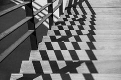 Abstract background with zigzag shape. Abstract background with zigzag shape with shadows, black and white photography royalty free stock photography