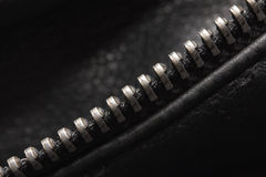 Abstract background. Zipper on the jacket. macro Royalty Free Stock Photos