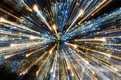 Free Abstract Background. Zoom Into The Lights. Christmas Theme. Royalty Free Stock Photo - 105614185