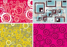 Abstract backgrounds. Vector set of the retro backgrounds Stock Images