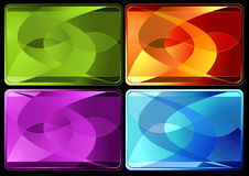 Abstract backgrounds. Set of four abstract backgrounds with copy space. Additional vector format in EPS (v.8 Royalty Free Stock Images