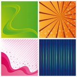Abstract backgrounds. Set from four abstract backgrounds Stock Photos