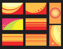 Abstract backgrounds. Vector set of bright abstract backgrounds Stock Image