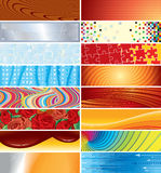 Abstract backgrounds. Set of banner backgrounds-(vector available stock illustration