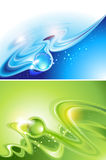Abstract backgrounds. Green and blue (no mesh Royalty Free Stock Photos