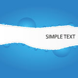Abstract backgrounds. By concept rip blue paper Stock Images
