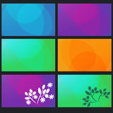 Abstract backgrounds. Colored abstract backgrounds set templates Royalty Free Stock Image