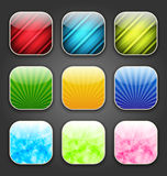 Abstract backgrounds for the app icons Stock Photo