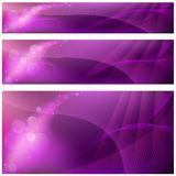 Abstract Backgrounds. 3 Banners, Vector Illustration Stock Photos