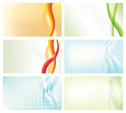 Abstract backgrounds business cards set Stock Photography