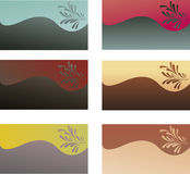 Abstract backgrounds on cards. Wavy lines ,floral design Stock Photos