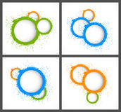 Abstract backgrounds with circles Stock Image