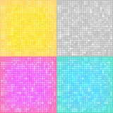 Abstract backgrounds with the circles. Set of colorful halftone backgrounds. 4 Colour Versions. Vector Illustration Stock Photos