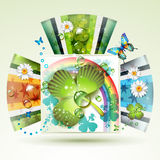 Abstract backgrounds with clover Royalty Free Stock Photography