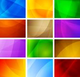 Abstract backgrounds collection. Set of vibrant simple backdrops. Eps 10  illustration Royalty Free Stock Photos