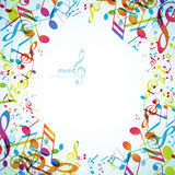 Abstract backgrounds with colorful tunes. Vector art Stock Image