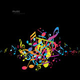 Abstract backgrounds with colorful tunes. Vector art Stock Photography