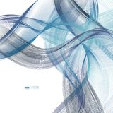 Abstract backgrounds with colorful wavy lines. Elegant wave design. Vector technology. EPS 10 Royalty Free Stock Photos