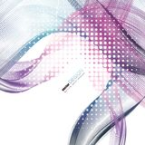 Abstract backgrounds with colorful wavy lines. Elegant wave design. Vector technology. EPS 10 Stock Image