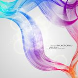 Abstract backgrounds with colorful wavy lines. Elegant wave design. Vector technology. EPS 10 stock illustration