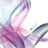 Abstract backgrounds with colorful wavy lines. Elegant wave design. Vector technology. EPS 10 Stock Photos