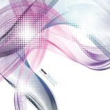 Abstract backgrounds with colorful wavy lines. Elegant wave design. Vector technology. EPS 10 Stock Photography