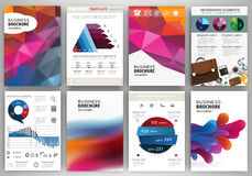 Abstract backgrounds, concept infographics and icons Stock Photo