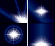 Abstract backgrounds with flash - vector Royalty Free Stock Photography