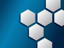 Abstract backgrounds with hexagons stock illustration