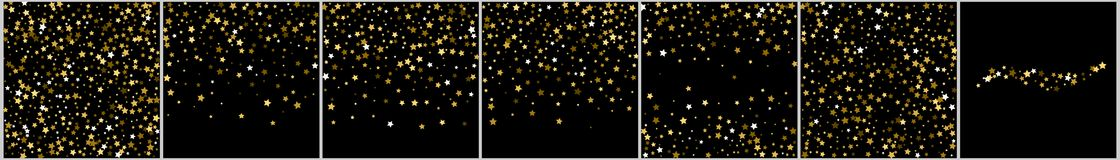 Abstract backgrounds with many falling gold stars confetti. vect. Or background Stock Image