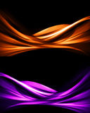 Abstract backgrounds. Modern design of abstract backgrounds on black background Stock Photo