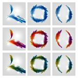 Abstract backgrounds. Abstract multicolored backgrounds. Vector illustration Royalty Free Stock Images