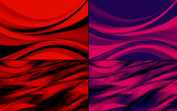 Abstract backgrounds pack Stock Image