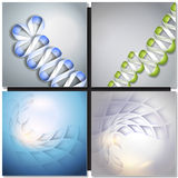 Abstract backgrounds with ribbons and squares Royalty Free Stock Image