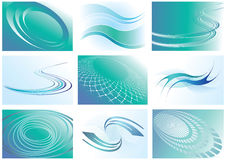 Abstract backgrounds set. Stock Photo