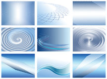 Abstract backgrounds set. Royalty Free Stock Photo