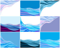 Abstract  backgrounds set Royalty Free Stock Photo