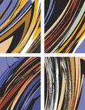 Abstract backgrounds set Royalty Free Stock Images