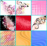 Abstract backgrounds set Royalty Free Stock Photography