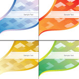 Abstract Backgrounds Set. Abstract square illustration backgrounds set Stock Photos