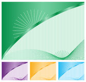 Abstract backgrounds set of four Royalty Free Stock Photos