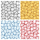 Abstract backgrounds set with nets Royalty Free Stock Images
