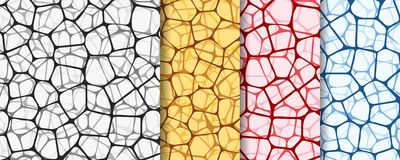 Abstract backgrounds set with nets Stock Image
