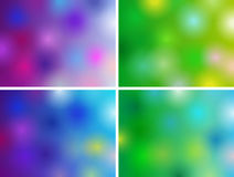 Abstract backgrounds. Set of 800x600 templates with blur elements for presentations and cards Stock Photography