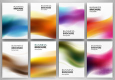 Abstract backgrounds set Stock Image