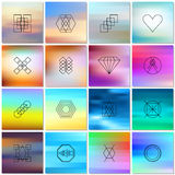 Abstract backgrounds with shapes outlines. Stock Photos